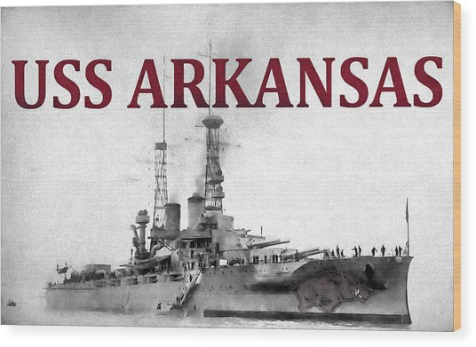 Uss Arkansas Wood Print