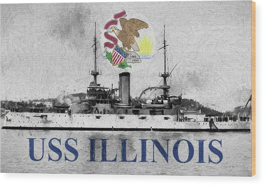 Uss Illinois Wood Print by JC Findley