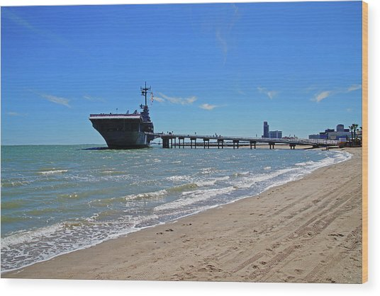 Uss Lexington Wood Print