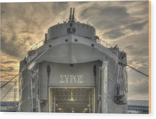 Uss Lst-325 Wood Print by Dale Wilson