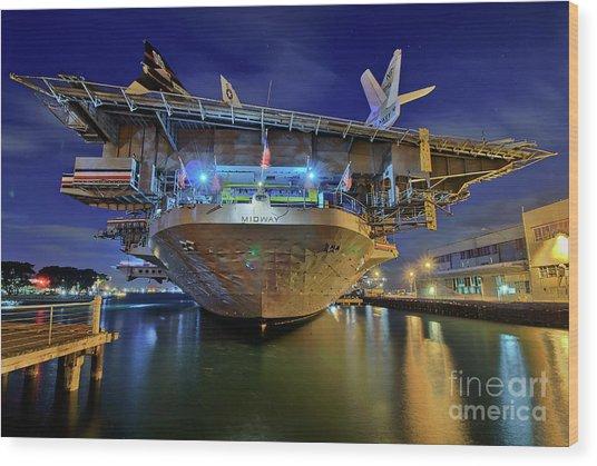 Uss Midway Aircraft Carrier  Wood Print