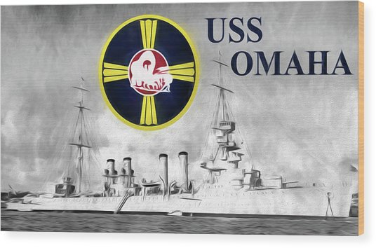 Uss Omaha Wood Print by JC Findley