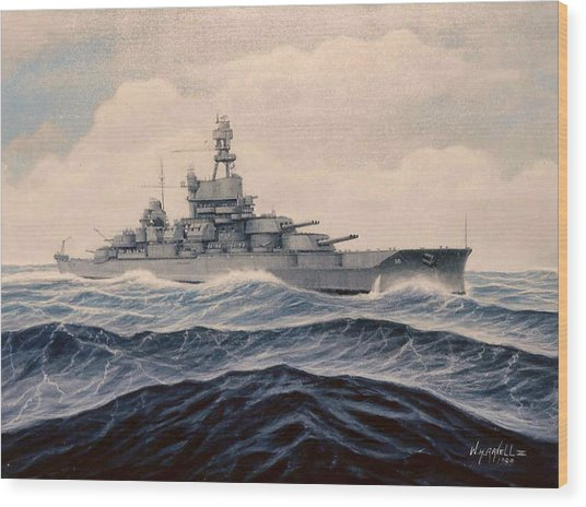 Uss Pensylvania Wood Print by William H RaVell III