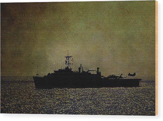 Uss Ponce Lpd-15 Wood Print