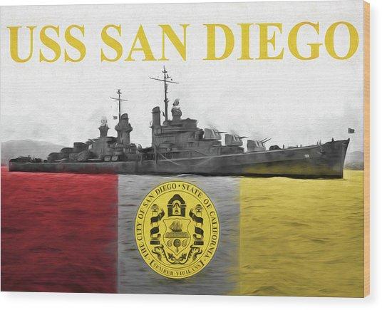 Uss San Diego Wood Print by JC Findley