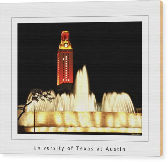 Ut Tower Poster Wood Print