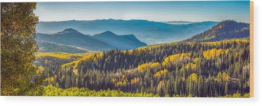Utah Autumn Panorama Wood Print