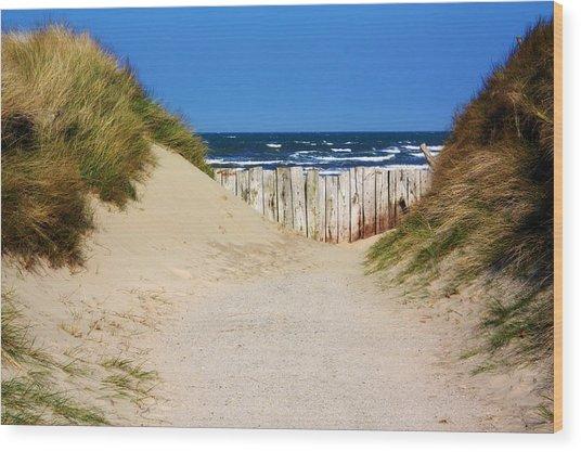 Utah Beach Normandy France Wood Print
