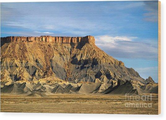 Utah Butte Wood Print