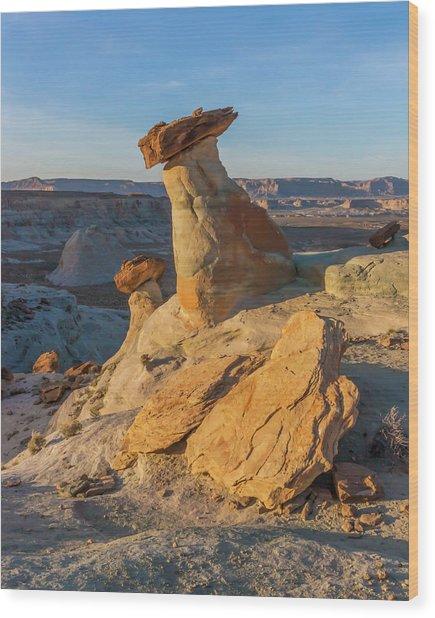 Utah Hoodoos At Sunset Wood Print