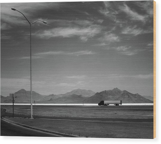 Utah Salt Flats Wood Print