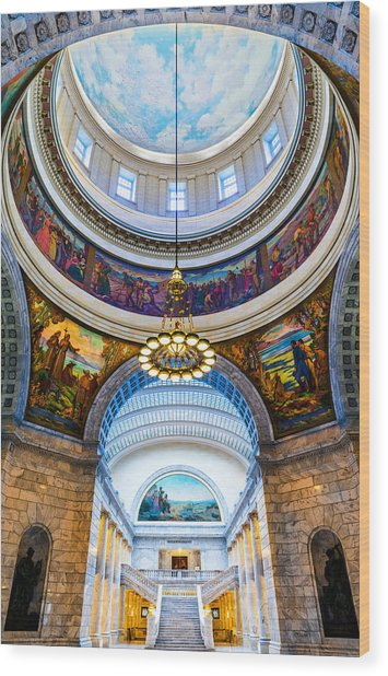 Utah State Capitol Rotunda #2 Wood Print