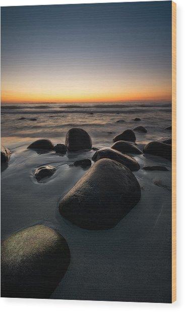 Uttakleiv Rocks Wood Print