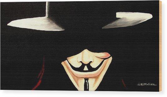 V For Vendetta Wood Print