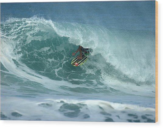 V Land Tube Action Wood Print