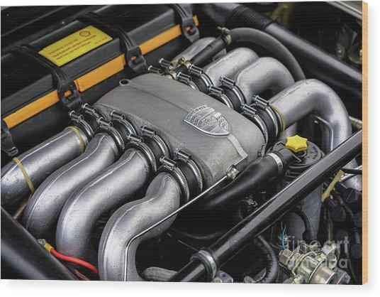 V8 Porsche Wood Print