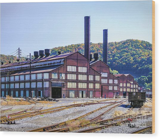 Vacant Steel Mill - Johnstown Pa Wood Print