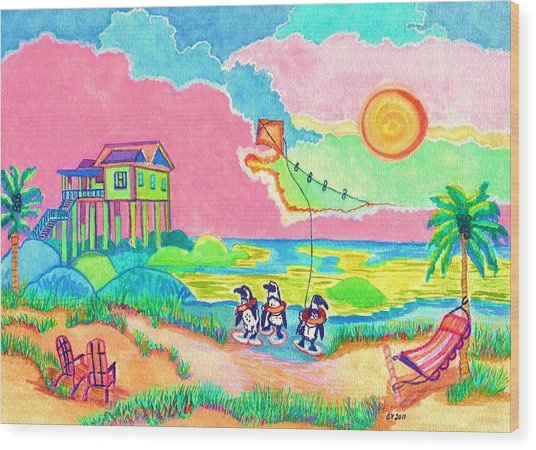 Vacation In The Sun Wood Print