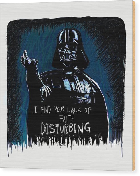 Wood Print featuring the digital art Vader by Antonio Romero