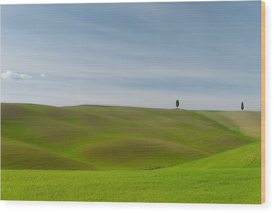 Val D'orcia, Toscana Wood Print