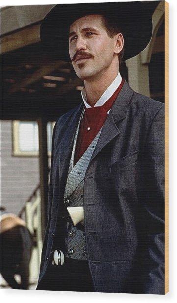 Val Kilmer As Doc Holliday Tombstone Set 1993-2015 Wood Print