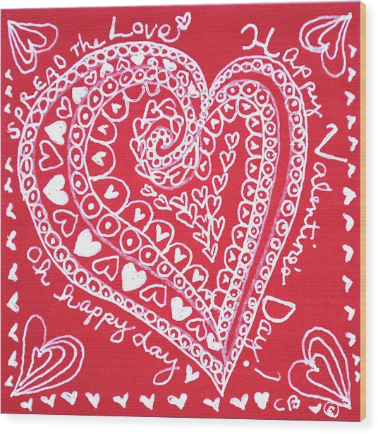 Valentine Heart Wood Print