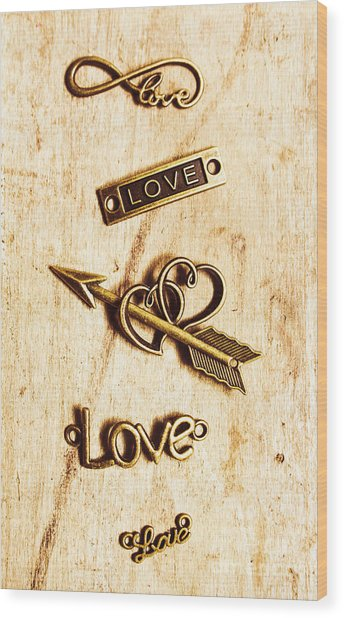 Valentine Pendants Wood Print