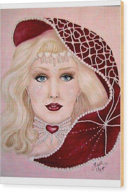 Valentine Wood Print by Scarlett Royal