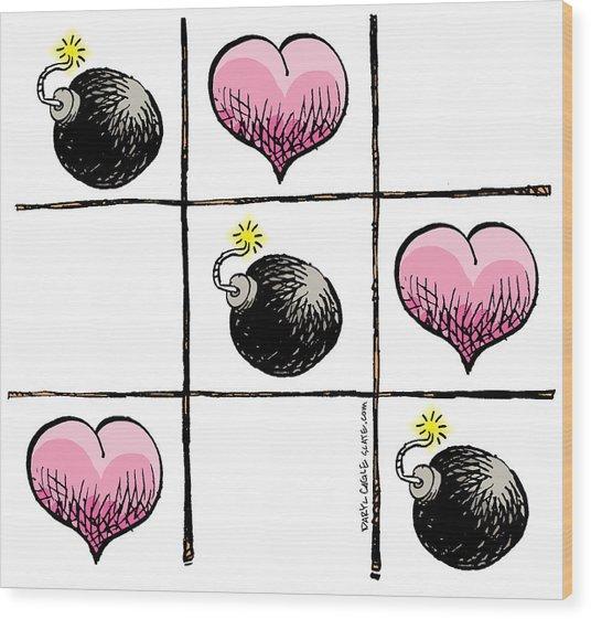 Valentine Violence Wood Print