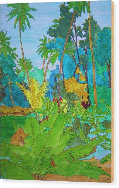 Vallee De Mai Wood Print by Michaela Bautz