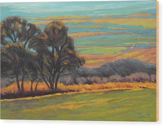 Valley Layer Cake Wood Print
