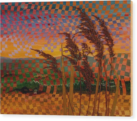 Valley Sunset Wood Print by Linda L Doucette