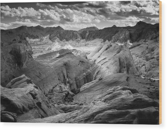 Valley Of Fire Expanse Wood Print
