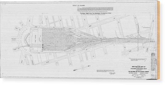 Valuation Map Washington Union Station Wood Print