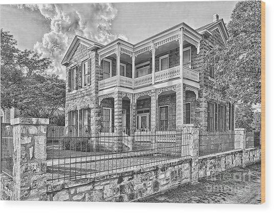 Van Der Stuken House Wood Print