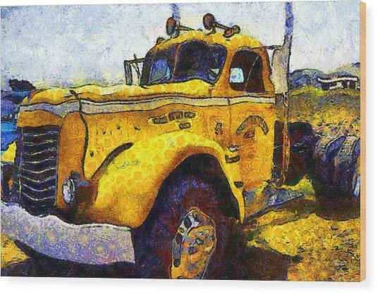 Van Gogh Hauls Across America In A Semi-trailer Truck . 7d15483 Wood Print