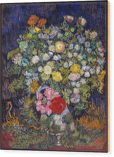 van Gogh's Vase          Wood Print