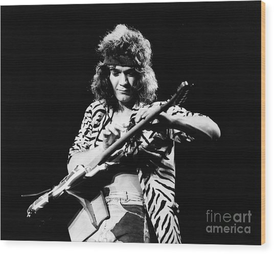 Eddie Van Halen  Wood Print by Chris Walter