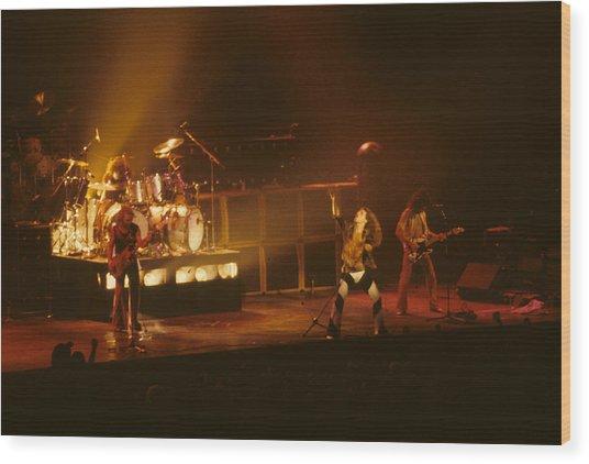 Van Halen Opening For Black Sabbath Wood Print