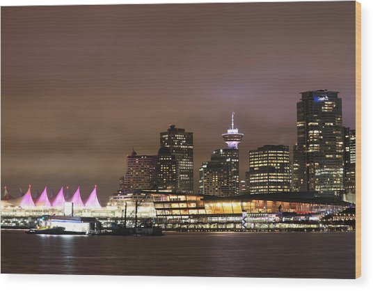 Vancouver Canada Place Wood Print