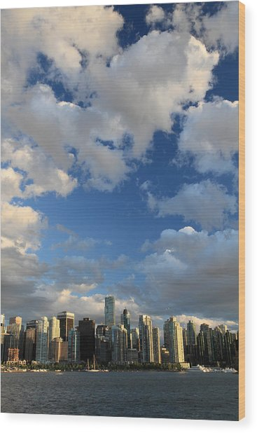 Vancouver City At Sunset Wood Print by Pierre Leclerc Photography