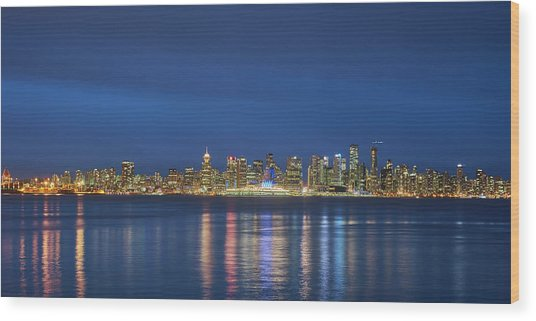Vancouver Cityscape Wood Print by Mauricio Ricaldi