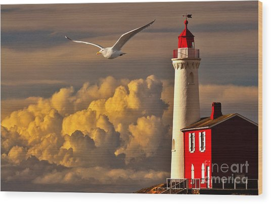 Vancouver Island Lighthouse Wood Print