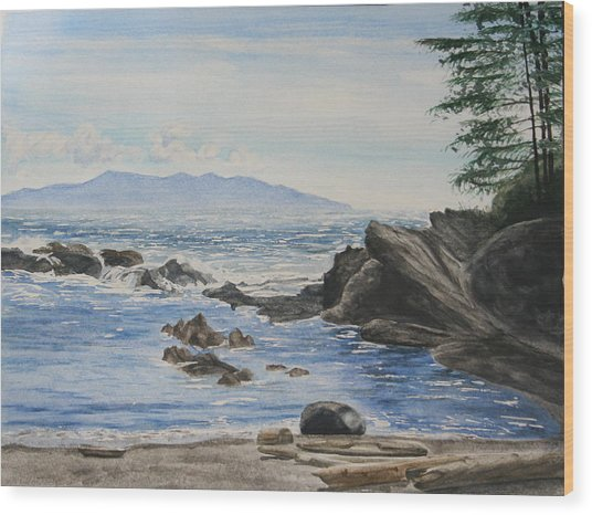Vancouver Island Wood Print by Monika Degan