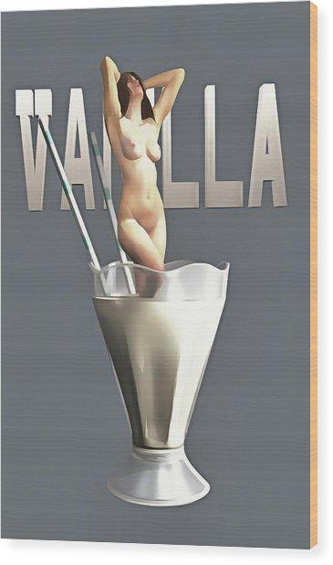Wood Print featuring the painting Vanilla by Jan Keteleer