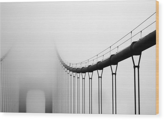 Vanishing Bridge Wood Print