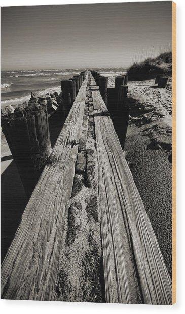 Vanishing Point Folly Beach Wood Print
