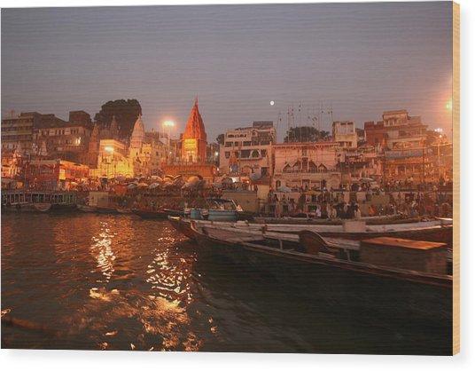 Varanasi Wood Print