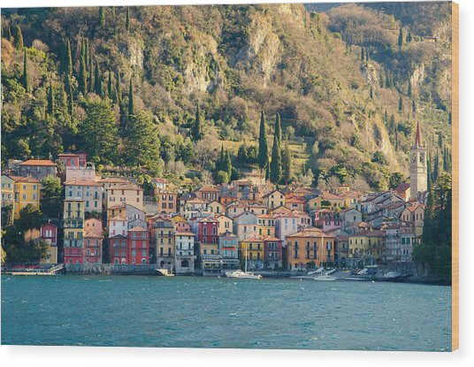 Varenna Village Wood Print