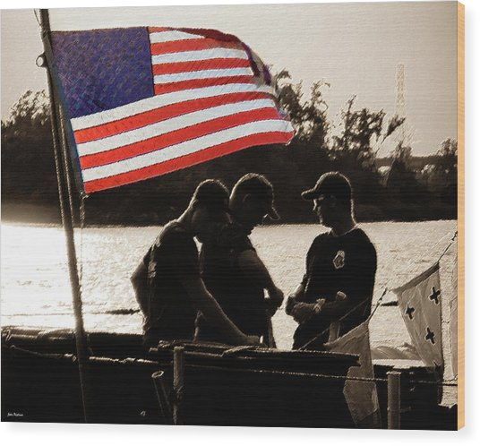 Variations On Old Glory No.3 Wood Print